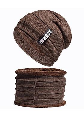 Hình ảnh Combo Mũ len nam và khăn quàng cổ