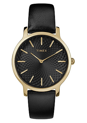 Đồng Hồ Nữ Dây Da Timex Metropolitan TW2R36400 (34mm) - Đen