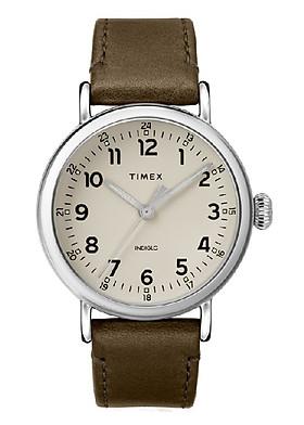 Đồng Hồ Dây Da Nam Timex Standard 40mm Leather Strap Watch - TW2T20100