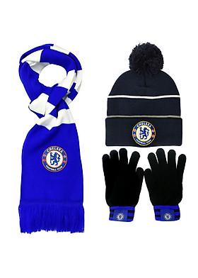 Hình ảnh Bộ khăn len, nón len, bao tay len Chelsea
