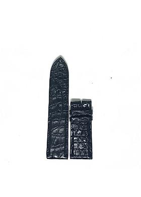Dây đồng hồ nam nữ Huy Hoàng da cá sấu 2 mặt da size lớn màu đen HT8281