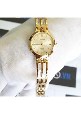 Đồng hồ nữ Halei dây lắc 5010L - dây vàng mặt vàng
