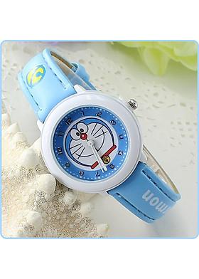 Đồng hồ trẻ em hình mèo máy dây da tổng hợp TE002