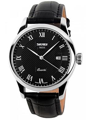 Đồng hồ nam dây da Skmei 9058CL