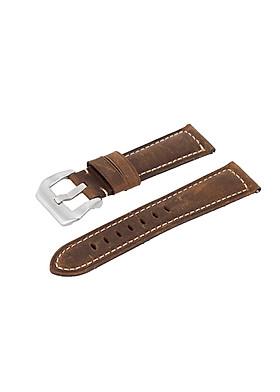 Dây đồng hồ chốt thông minh chất liệu da bò thật  da sáp vintage cho đồng hồ nam, smart watch, đồng hồ thời trang SNK, SKX007, SNZG15, SNZG09, SRPE, SRPD, Cal.7s36 , Galaxy watch , GT2, Garmin