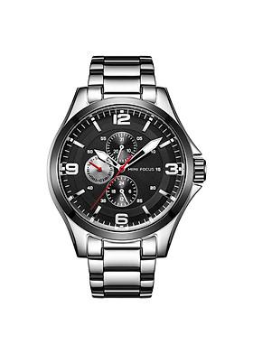 Đồng hồ nam công sở, kiểu dáng thời trang Mini Focus chính hãng MF0199G chống nước, fullbox - Dây hợp kim cao cấp không gỉ