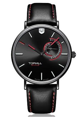 Đồng hồ nam dây da chính hãng Thụy Sĩ TOPHILL TS016G.PB1152