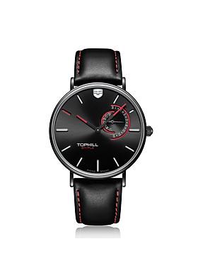 Đồng hồ nam dây da cổ điển thương hiệu Thụy Sĩ TOPHILL TS016G.PB1152