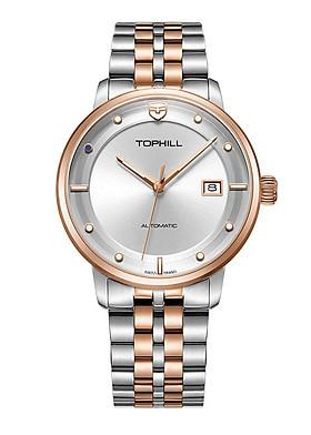 Đồng hồ nam máy cơ tự động chính hãng Thụy Sĩ TOPHILL TW073G.S7688