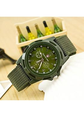 Đồng hồ nam nữ army mặt tròn dây dù trẻ trung DH72