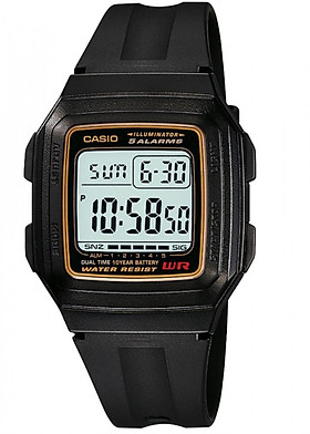 Đồng hồ unisex dây nhựa Casio F-201WA-9ADF