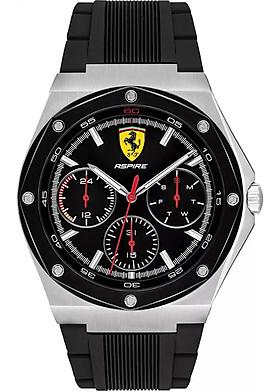 Đồng Hồ Nam Dây Cao Su Lịch Thứ Ngày Ferrari 0830537 (41mm)
