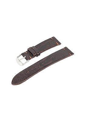 Dây quai đồng hồ không chỉ viền da đà điểu thật có khóa