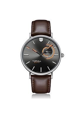 Đồng hồ nam dây da cổ điển thương hiệu Thụy Sĩ TOPHILL TS016G.PZ1052