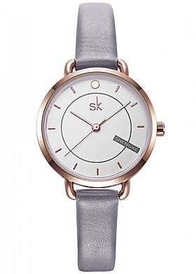 Đồng hồ nữ chính hãng Shengke Korea K8032L-03 Xám đen