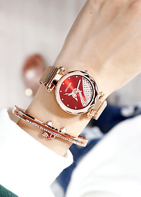 Đồng hồ nữ thời trang hàn quốc mặt thiên nga đính đá sang trọng quý phái hot 2019dây châm  kim loại  cao cấp