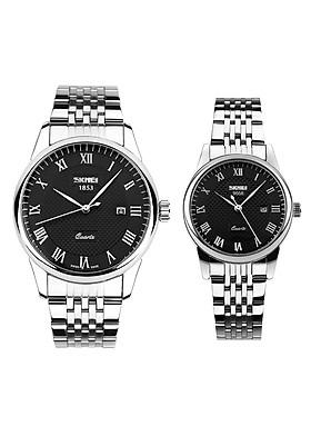 Đồng hồ đôi dây thép không gỉ Skmei 90TCK58