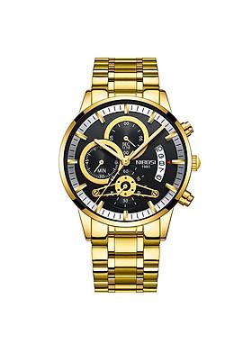 Đồng hồ thời trang công sở nam NIBOSI chính hãng NI2309-1.09 fullbox, chống nước - Chạy full 6 kim, mặt kính Mineral, dây hợp kim cao cấp không gỉ