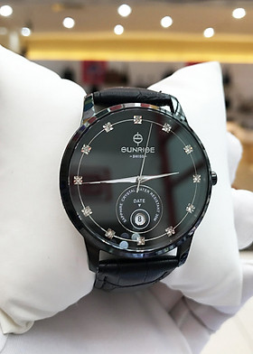 Đồng hồ nam Sunrise 1138SA [Full Box] - Kính Sapphire, chống xước, chống nước - Dây da cao cấp