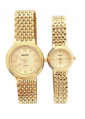Cặp đồng hồ Nam Nữ Halei - HL494 Dây vàng