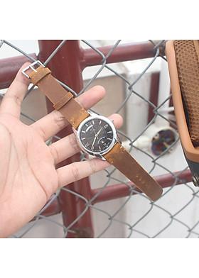 Dây đồng hồ da bò cực đep hàng handmade đủ size 18  - 24mm [ tặng kèm khóa  + tool thay dây ]