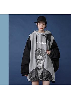 Hình ảnh Áo hoodie unisex giả hai áo mặc người Mã: NT2429