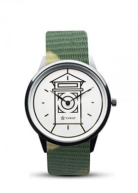 Đồng hồ nam dây Nato Viwat Sài Gòn VW-106S ( 38mm) Xanh vàng nâu