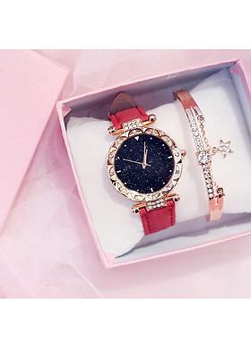 Đồng hồ dây da thời trang nữ đính cườm sang trọng ZO20
