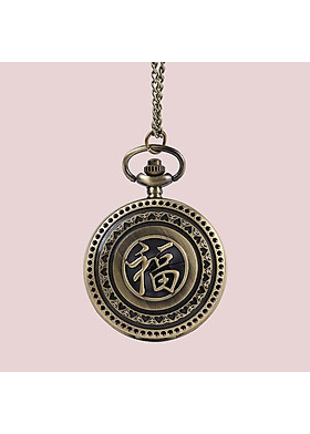 Đồng hồ quả quýt đeo cổ chữ Phúc