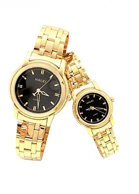 Cặp đồng hồ Nam Nữ Halei - HL501 Dây vàng