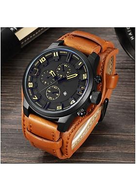 Đồng hồ nam dây da thời trang - đồng hồ thể thao nam mới KT