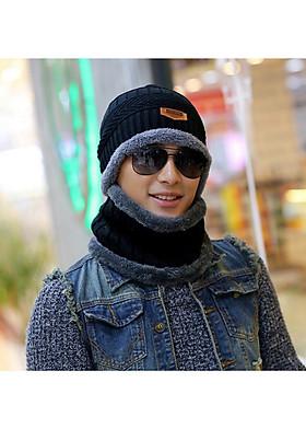 Hình ảnh Bộ mũ len, nón len và choàng cổ cao cấp A079