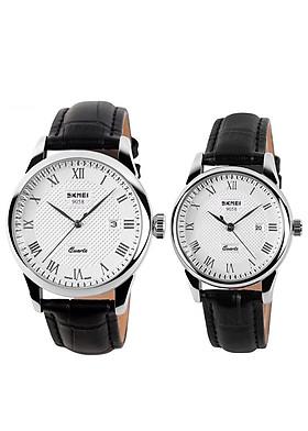 Đồng hồ đôi dây da SKMEI sk-53451