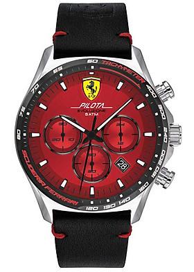 Đồng Hồ Nam Chronograph Lịch Ngày Dây Da Ferrari 0830713 (44mm)