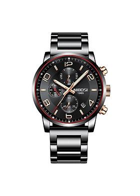 Đồng hồ thời trang công sở nam NIBOSI chính hãng NI2328.06 fullbox, chống nước - Chạy full 6 kim, mặt kính Mineral, đây hợp kim cao cấp không gỉ