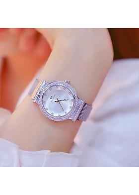 Đồng hồ nữ BS dây titanium cao cấp mặt vát kính sang trọng sành điệu