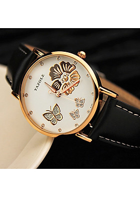 Đồng hồ thời trang nữ mặt hoa trắng phong cách Hàn Quốc