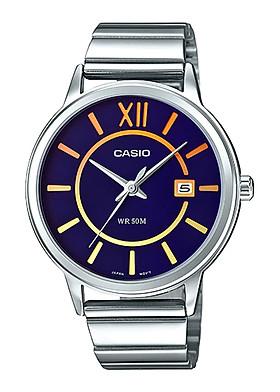 Đồng hồ Nữ Casio dây kim loại kính Cứng LTP-E134D-2BVDF