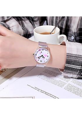 Đồng hồ nữ dây trong suốt mặt ngộ nghĩnh dễ thương