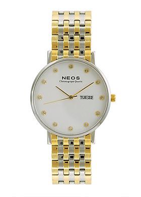Đồng hồ Neos N-30901M nam dây thép bạc phối vàng