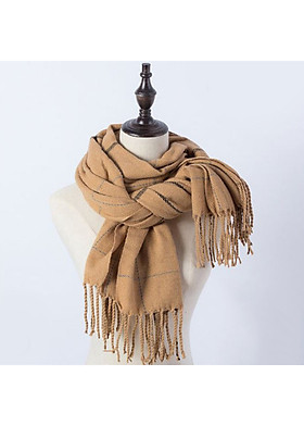 Hình ảnh Khăn choàng khăn len quàng cổ cho nữ LB18-Vàng