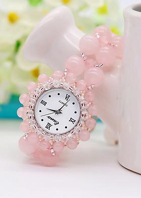 Đồng Hồ Đá Thạch Anh Hồng DHN04 Bảo Ngọc Jewelry