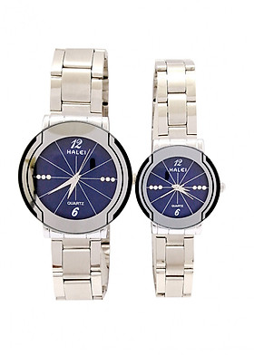 Cặp đồng hồ Nam Nữ Halei - HL4570 Dây trắng