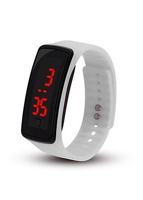 Đồng hồ led unisex đèn led dây silicon cao su dẻo dai phong cách thể thao trẻ trung