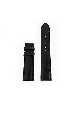 Dây đồng hồ nam nữ Huy Hoàng da đà điểu da bụng màu đen HT8435