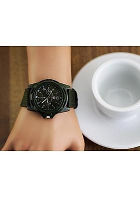 Đồng hồ army thời trang dành cho nam nữ mặt tròn dây dù trẻ trung hiện đại DH72
