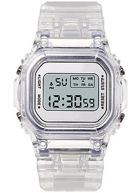 Đồng Hồ thể thao nữ KASAWI K001 đồng hồ điện tử nữ mặt vuông thời trang 2020 dây trong silicon