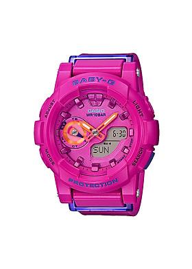 Đồng hồ nữ dây nhựa casio BGA-185FS-4ADR