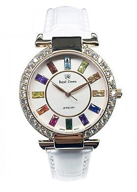 Đồng hồ nữ chính hãng Royal Crown 4604ST trắng