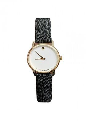 Đồng hồ nữ Goldenstar 3201 Dây da đen